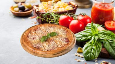 Pizza Foto mit gesunden Zutaten