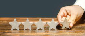 Foto mit 5 Sternen als Bewertung